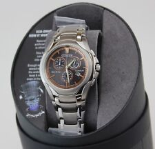 NEW AUTHENTIC CITIZEN ECO DRIVE SILVER CORSO CHRONOGRAPH AT0940-50G MEN'S WATCH