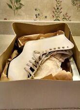Vintage American Aces Ice Figure Skates Ladies White Size 8 Style 520