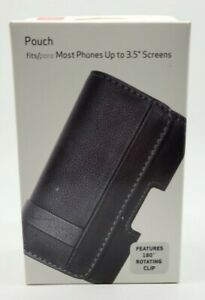 """Verizon Leather Pouch with Rotating Belt Clip For Most Phones Up to 3.5"""" Screen"""