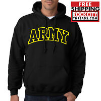 ARMY ARCHED HOODIE United States Military Usarmy Ranger US Hooded Sweatshirt USA