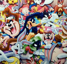 Looney tunes hydrographic film hydro dipped 100cm width, various length Folded