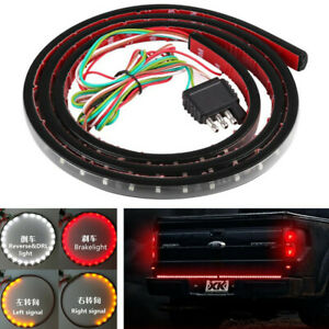 "48"" Pickup 120 LED Light Strip DRL Reverse Brake Stop Turn Signal Lamp 3 Colors"