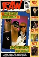 ZZ Top on RAW Cover 1988  Jimmy Page  Wrathchild  Lorraine Lewis of Femme Fatale
