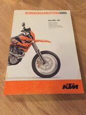 KTM 625 SMC, SXC Owners manual - 2005