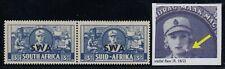 "South West Africa, SG 117a, MHR pair ""Cigarette Flaw"" variety"
