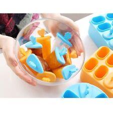 Silicone Mini Popsicle Ice-Cream Yogurt Pop Molds Freezer Maker 8 Grids Summer