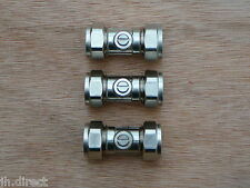 15mm Chrome Plated CxC Inline Isolating Ballofix iso valve tap CP valves x 3