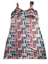 Nuisette femme 38/40 chemise de nuit drapeaux anglais américain No Publik neuve