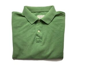 J Crew Polo Shirt Mens Large Collared Button Close Regular Fit Adult Solid