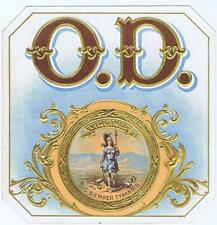 O.D. original outer cigar box label Virginia  George Schlegel