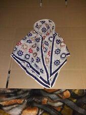 Vintage Scarf Headband Nautical theme 15 inches long part Silk