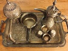 Antique Islamic 19th Century Large Solid Silver Arabic Coffee Set Dallah 4.4 KG