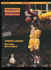 College Basketball Program Minnesota 1993 1/6 Michigan State MSU Veshon Lenard