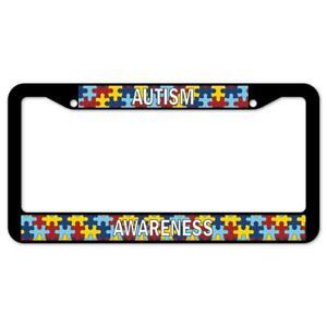 SignMission Autism Awareness Plastic License Plate Frame, License Tag Holder