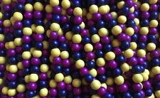Sadingo Holzperlen 50 Stk. 8 mm 3er Farbmix,Perlen zum basteln,Holzkugeln fädeln