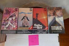 Lot 4 Classic Musicals VHS - My Fair Lady ,Sound Music, Fiddler, Titanic