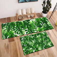 Tropical Leaves Monstera Pattern Area Rugs Bedroom Kitchen Floor Mat Doormat Rug