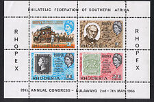 Rhodesia Mint Stamps Mini-Sheet Philatelic Federation Bulawayo - 1966 MS392