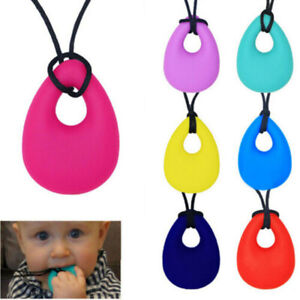 Baby Chewy Chewelry Necklace Autism ADHD Biting Sensory Chew Kids Teething Toy