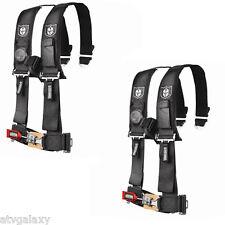 "Pro Armor 4 Point Harness 3"" Padded Seat Belts BLACK RZR XP Turbo 1000 900 800"
