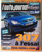 ►L'AUTO-JOURNAL 3/05/2001; Toutes les 307 à l'essai/ Spécial Scooters & 125 cm3