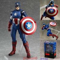 Figma 226 Marvel's The Avengers Captain America Figma Anime Action Figure IN BOX