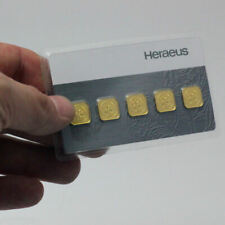 Heraeus 999.9 Goldbarren Multicard 5 x 1 Gramm in Blister Zertifiziert