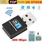 Mini USB Wifi Adapter Dongle 300Mbps Wireless Lan Internet For Desktop PC Laptop