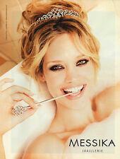 Publicité 2012 MESSIKA joaillier bague collier collection bijoux bracelet