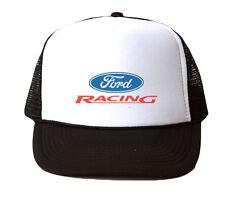 Ford Racing Trucker Hat Mesh Cap Snapback Adjustable Brand New-Black