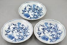 3 Blue Danube Japan Saucers Blue Onion Pattern Rectangle Mark