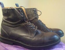 Clarks Mens Bushwick Peak Gray Leather Ankle Boots Shoes sz US 8