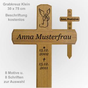 Grabkreuz Holzkreuz Klein 30 x 75 cm  Grabkreuze / Holzkreuze aus Eichenholz