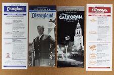 Disney Disneyland DLR DCA 60th Diamond Birthday Park Guide Map 2015 July 17 Set!
