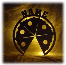 Pizza Geschenke Deko Lampe mit Name Zubehör für die Pizzeria Pizzabäcker Koch