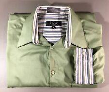 Crazy Horse Men Dress Shirt Size 16, 32-33 Long Sleeve olive Green