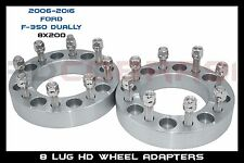 "2 pc 8X200 F-350 Dually wheel adapters 1.5"" 14x1.5 studs"
