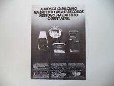 advertising Pubblicità 1980 HEUER MICROSPLIT 231 e 221