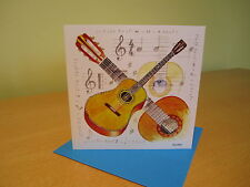 GUITAR Greetings Card with envelope - blank for your own message