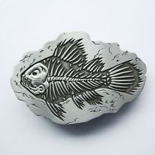 BRAND NEW FISH FOSSIL BODY OLD BONES SKULL  BELT BUCKLE