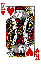 KING OF HEARTS PLAYING CARD  IRON ON T SHIRT TRANSFER
