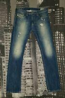 Diesel Herren Zerrisenne Jeans W34 L34 Modell THAVAR, Slim-Skinny