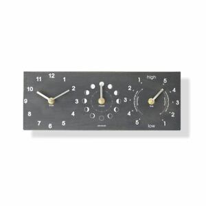Ashortwalk Moon, Tide and Time Clock wall clock made from recycled milk bottles