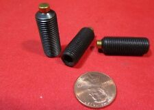 "Alloy Steel Set Screws, Brass Tip, 3/8-24 x 1"" Length, 10 Pieces"
