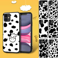 Phone Case Silicone Cow Black and White for IPhone 11 Pro Max XS XR 8 7