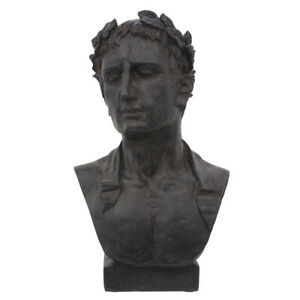 Atticus Philosopher Sculpture Male Man Bust Sculpture 18x13x28cmh