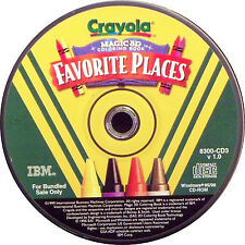 Crayola Magic 3D Coloring Book: Favorite Places (PC, 1999)