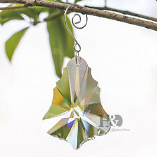 1x Maple Leaf Chandelier Crystal Lamp Prisms Parts Xmas Tree Hanging Decor 76mm