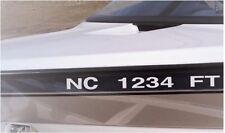 "2 Sets of Custom Boat Registration Numbers Vinyl Decal Sticker, 3""x 20"""