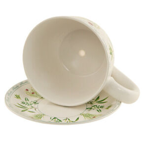 XXL Große Pflanzentasse Keramik Pflanztopf Tasse Blumentopf Teetasse Untersetzer